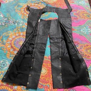 Black Leather Chaps Size XXL